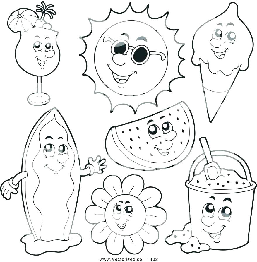 878x895 Colouring Pages Summer Clothes Coloring To Print Printable