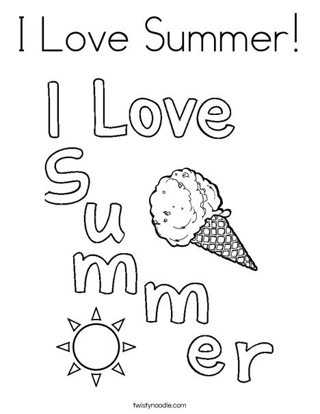 468x605 I Love Summer Coloring Page Twisty Noodle I Love Summer Coloring