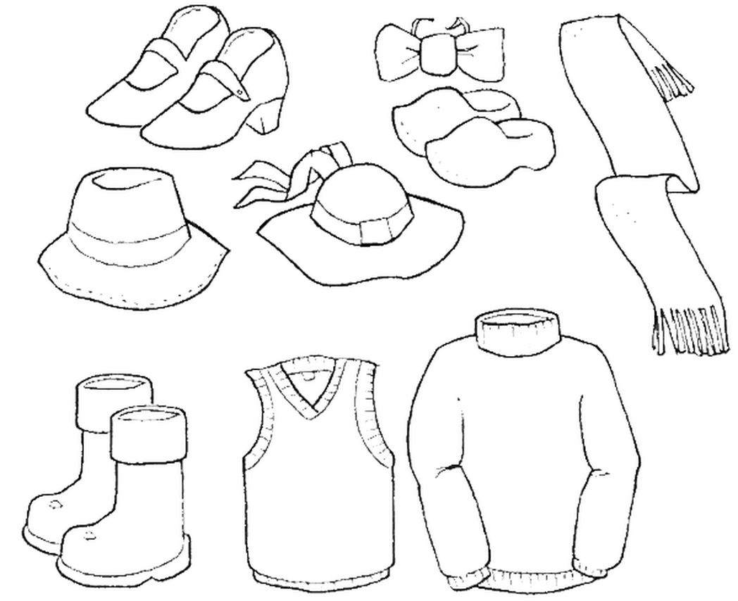 Summer Clothes Coloring Pages at GetDrawings | Free download