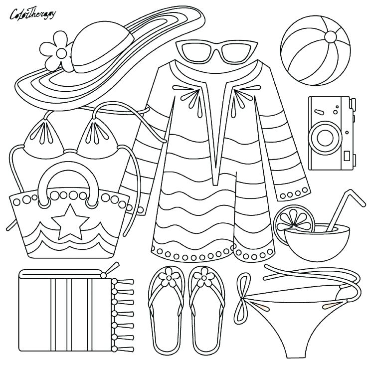 736x736 Clothing Coloring Pages Summer Clothing Coloring Page Coloring