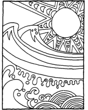 290x361 Summer Summer Flower Coloring Page, Hot Summer Day Coloring Page