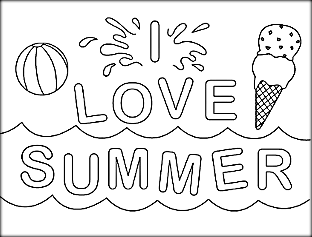 1008x768 Summer Coloring Pages