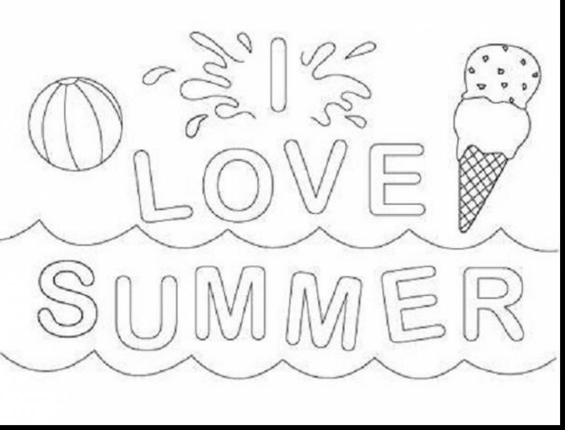 1152x877 Adorable Summer Vacation Coloring Pages
