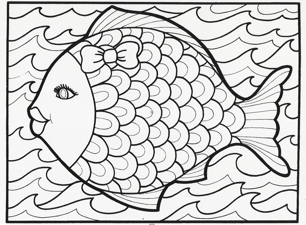 980x722 Free Printable Summer Coloring Pages