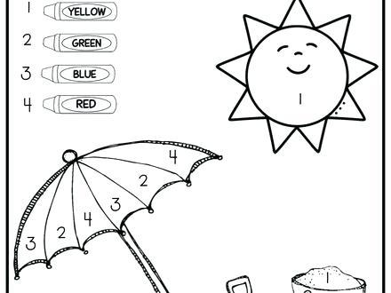 Summer Coloring Pages For Kindergarten