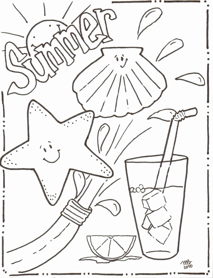 736x962 Fun Coloring Pages Leversetdujourfo Summer Coloring Pages