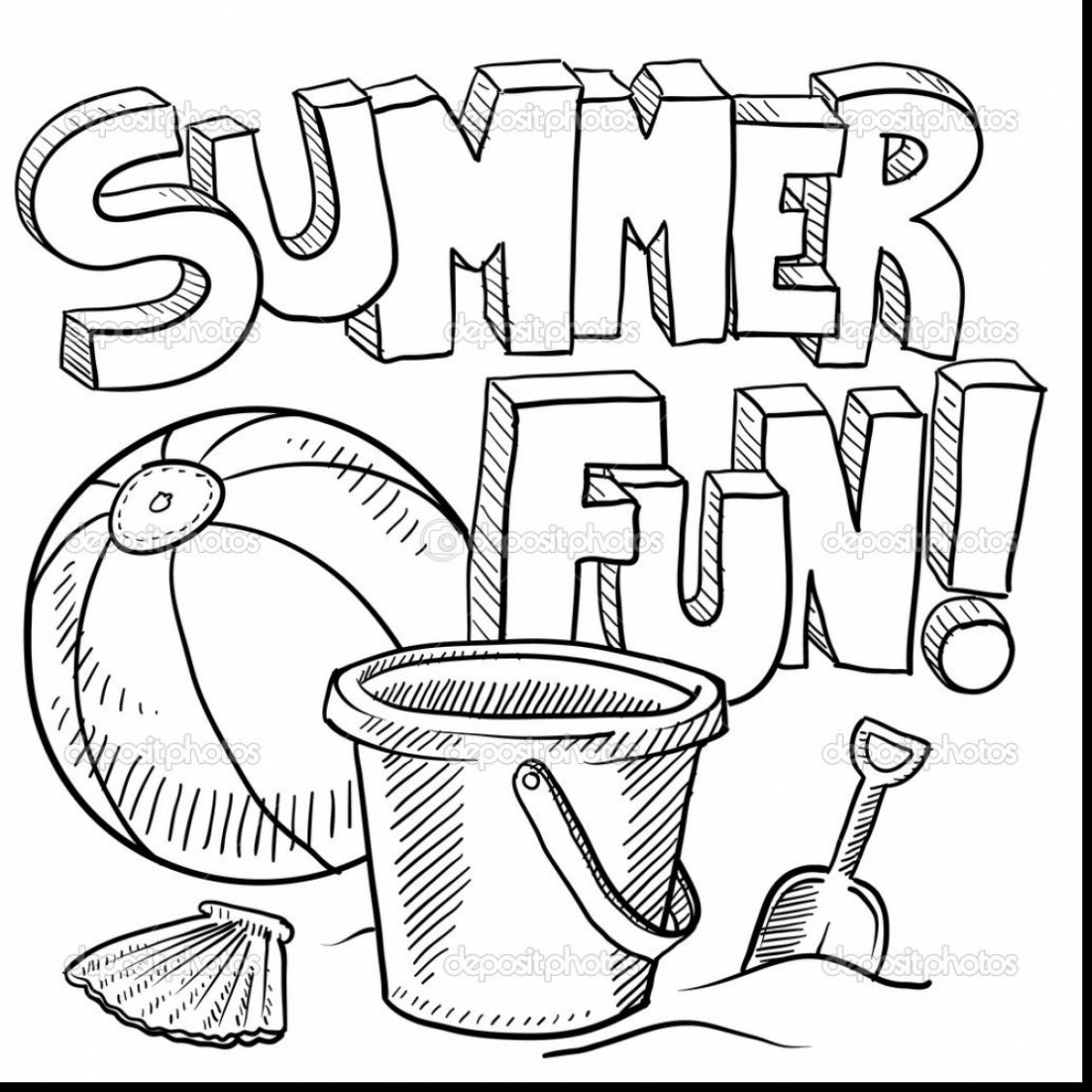 1126x1126 Summer Coloring Pages For Older Kids