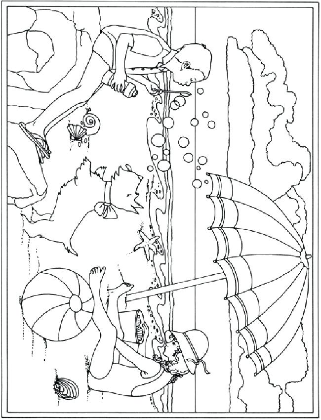 650x850 Vacation Coloring Pages Tom And On The Beach Summer Coloring Pages