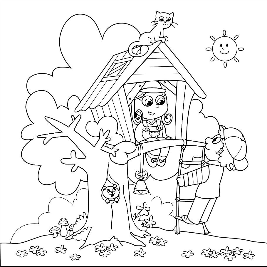 909x909 Summer Coloring Pages For Older Kids