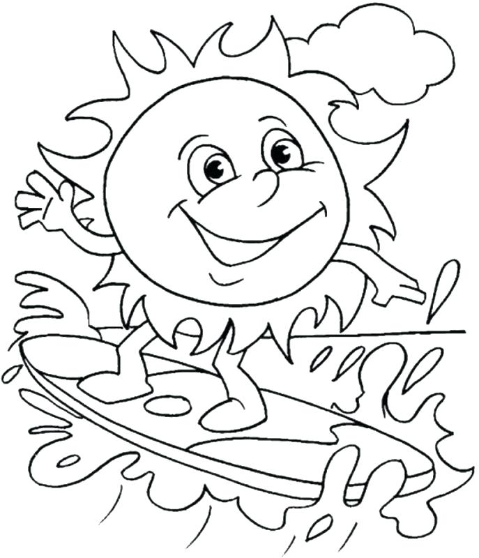 687x800 Holiday Beach Coloring Sheet Coloring Pages Children Medium Size