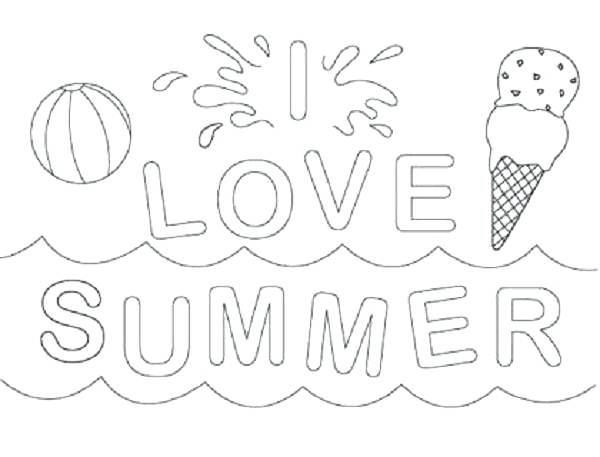 600x457 Printable Beach Coloring Pages Printable Summer Coloring Pages
