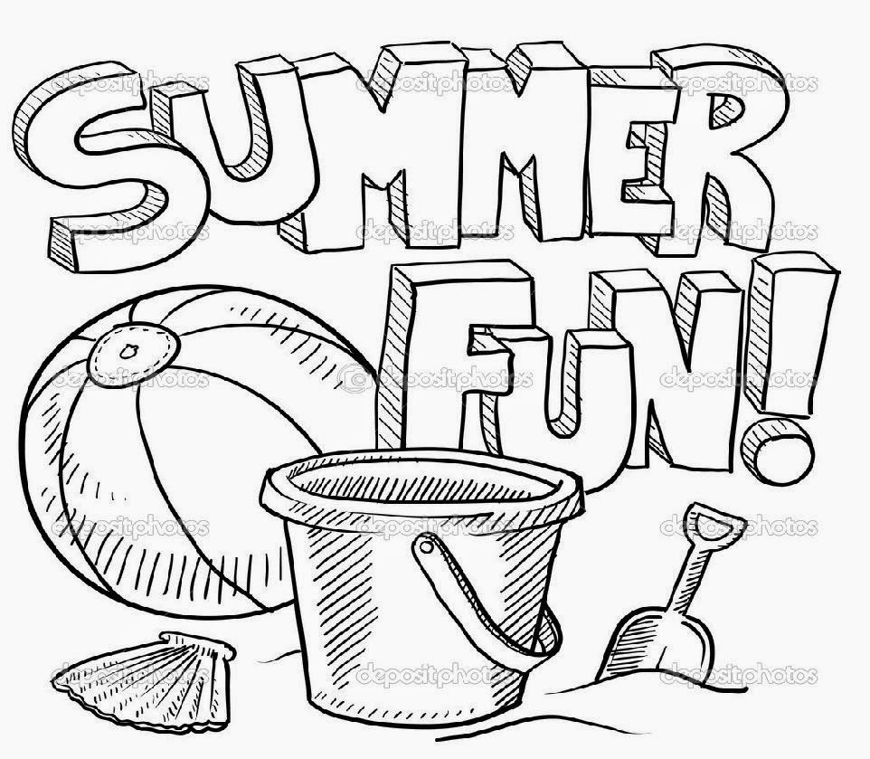 962x839 Reliable Summer Coloring Pages For Preschool Obsession In Funny