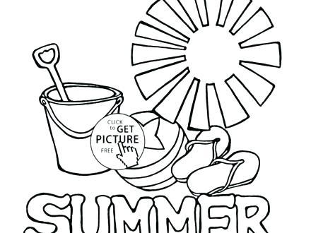 440x330 Summer Coloring Sheets Summer Season Coloring Pages Summer