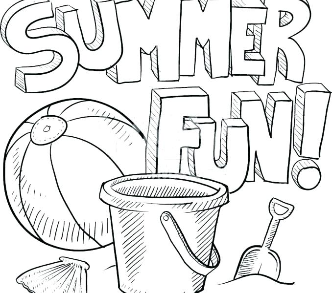 678x600 Summer Colouring Pages For Toddlers Kids Coloring Summer Color