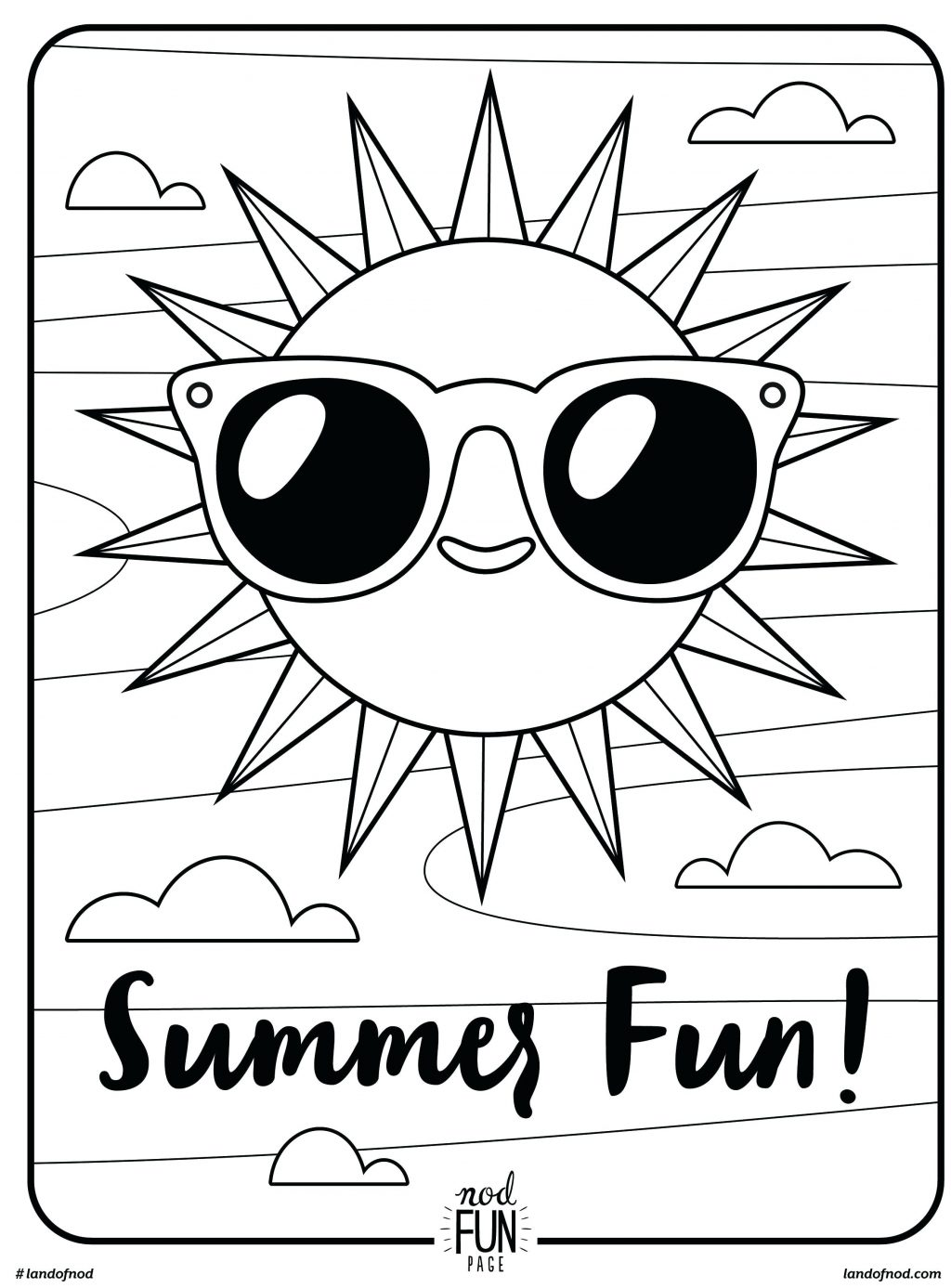 1024x1387 Coloring Pages Summer Color Pages Fun Printable Coloring