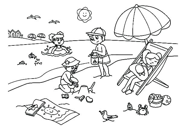 600x442 Free Printable Summer Coloring Sheets Summer Coloring Pages