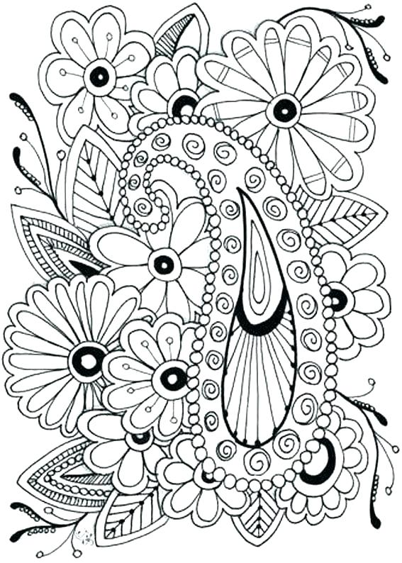567x794 Floral Coloring Pages Flower Coloring Pages Printable Free