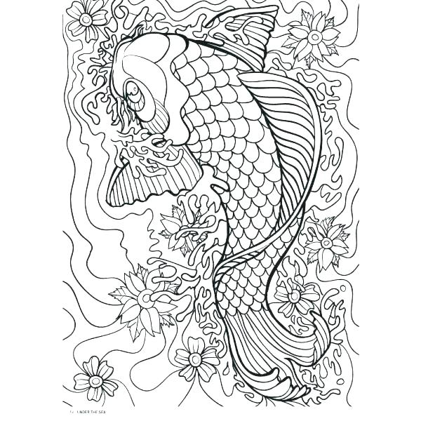 600x600 Intricate Flower Coloring Pages Flower Coloring Page Summer