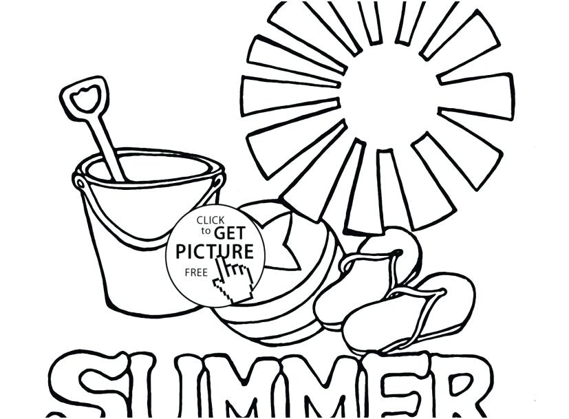 827x609 Summer Coloring Pages Printable Season Coloring Pages View R Free