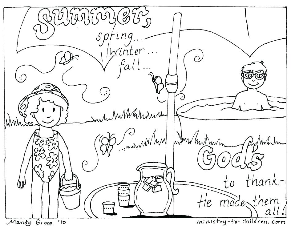 945x734 Summer Coloring Pages Printable