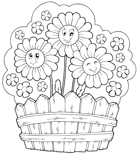 456x510 Summer Flowers Coloring Pages Printable