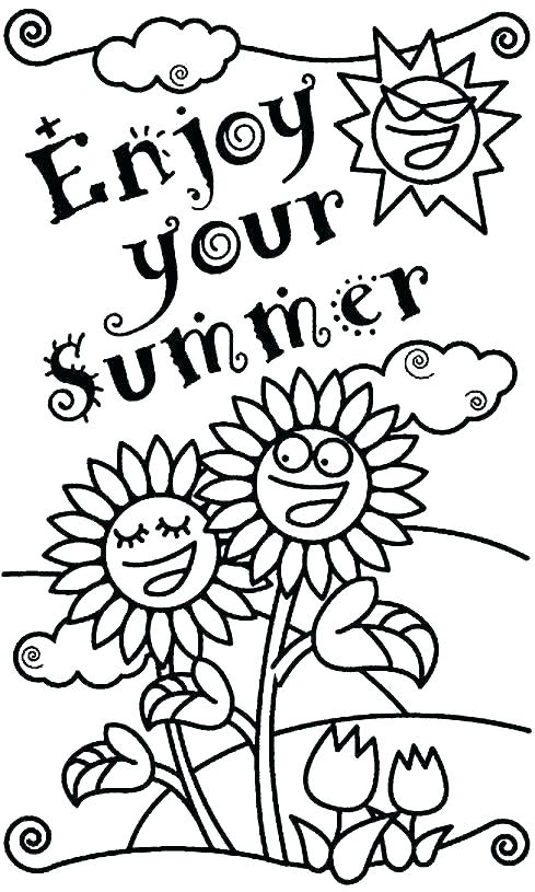 489x815 Summer Flowers Coloring Pages Printable