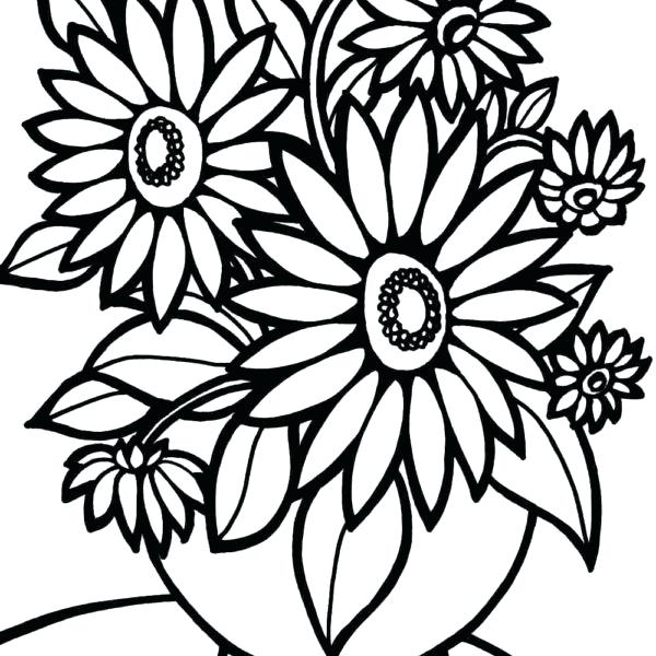 600x600 Coloring Pages Flowers Printable Coloring Pages Coloring Pages