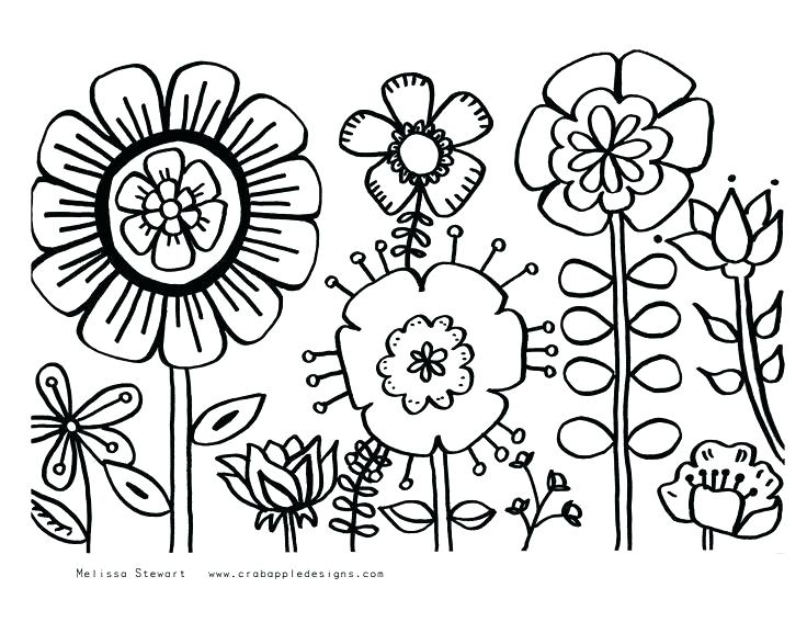 736x567 Coloring Pages Of Summer Flowers