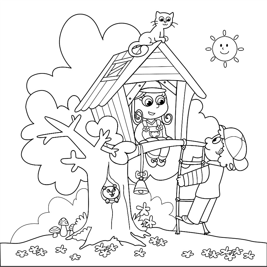 909x909 Highest Summer Pictures To Colour Colouring Pages Coloring Page