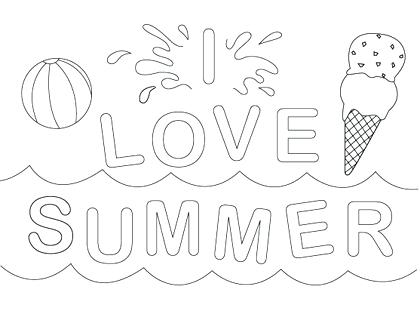 Summer Fun Coloring Pages At Getdrawings Com Free For
