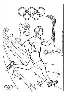 226x320 Olympic Coloring Pages