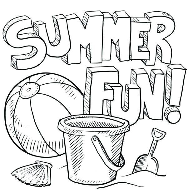 618x618 Summer Coloring Page Colouring Pages Printable Free Book Summer