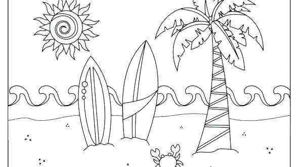 585x329 Summer Coloring Pages Printable Coloring Pages Summer Coloring