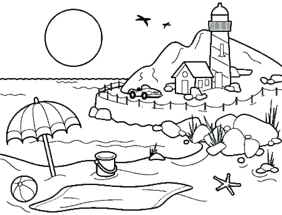 900x688 Summer Coloring Pages Printable Summer Coloring Pages For Kids