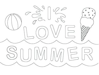 420x320 Summer Coloring Pages Printable Summer Coloring Sheets