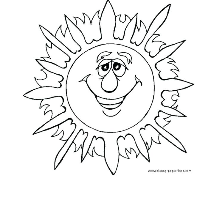 735x737 Summer Coloring Sheets For Kids Free Summer Coloring Pages