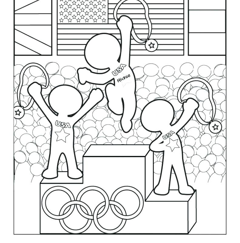 791x800 Olympic Coloring Pages