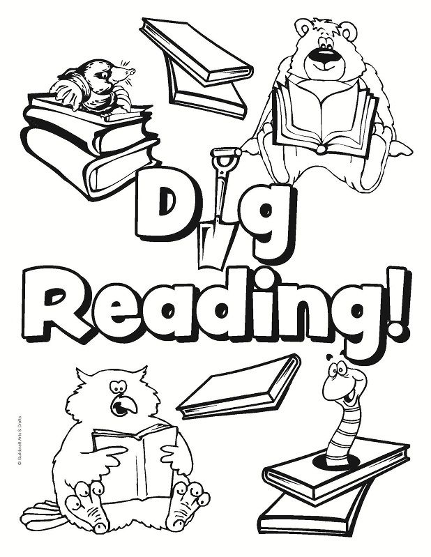 618x799 Bear In A Library Coloring Page Library