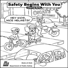 236x236 Safety Coloring Pages Beautiful Bike Safety Coloring Pages
