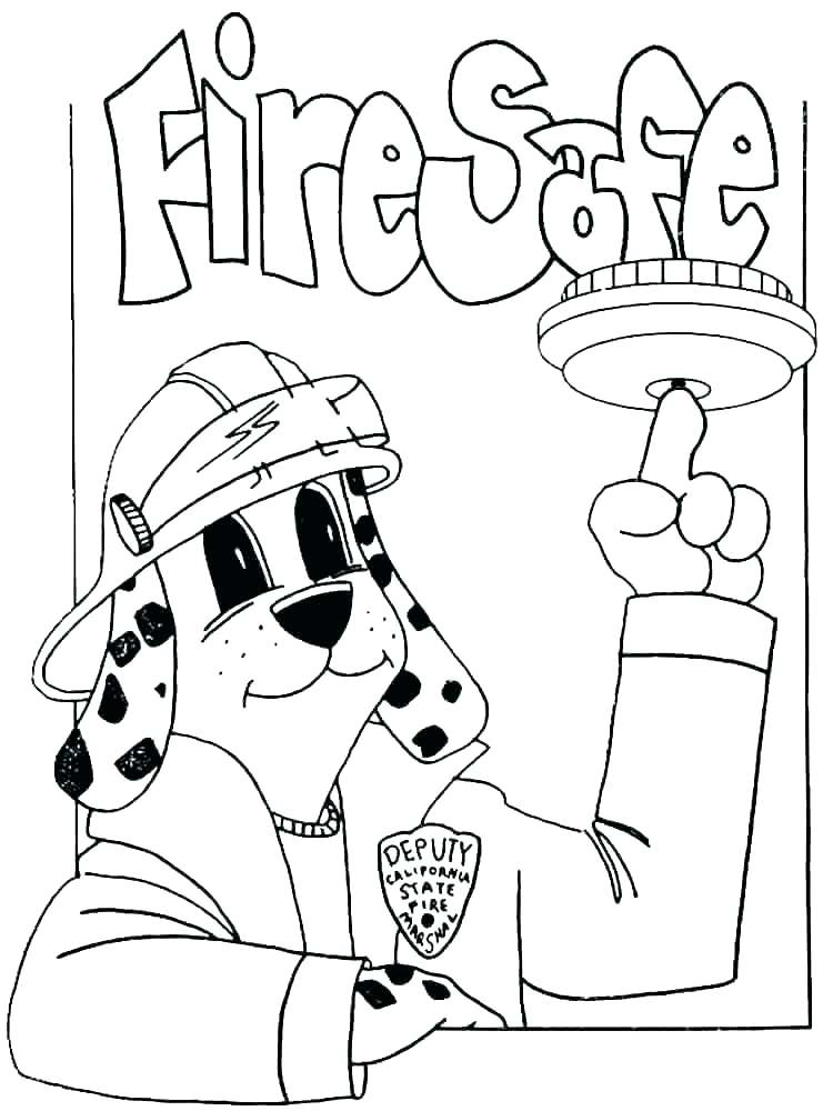 750x1000 Safety Coloring Pages Fire Safety Color Pages Within Coloring