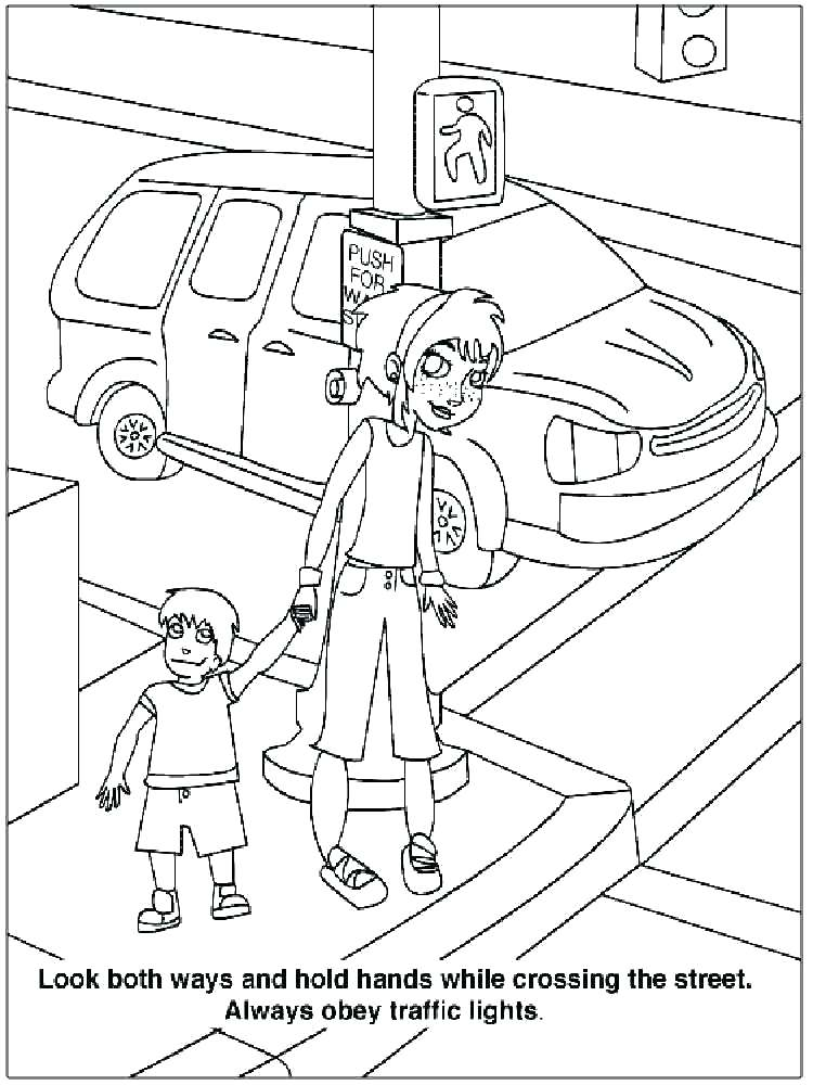 750x1000 Safety Coloring Pages Safety Coloring Pages Awesome Pictures