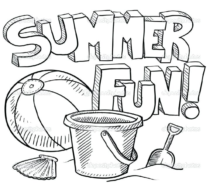728x635 Summer Coloring Activities Summer Coloring Pages For Adults Best