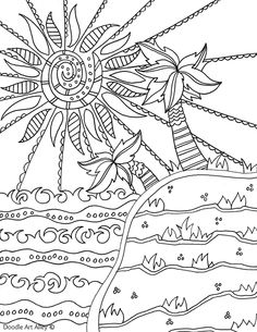 Summer Scene Coloring Pages