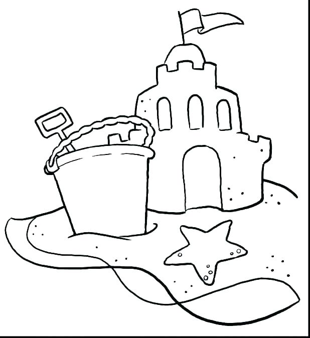 618x674 Beach Scene Coloring Pages Coloring Pages Beach Scenes Ball