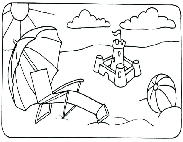 618x478 Coloring Page Beach Beach Ball Coloring Pages Printable Big Free