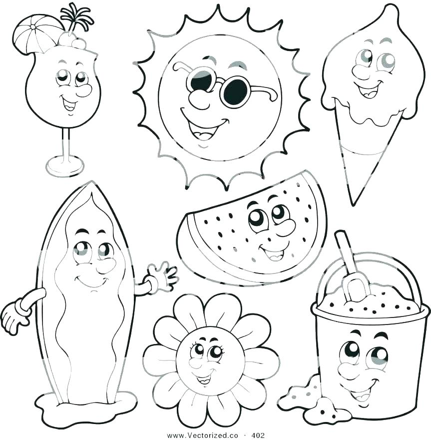 863x880 Happy Summer Holidays Coloring Pages Printable Summer Coloring