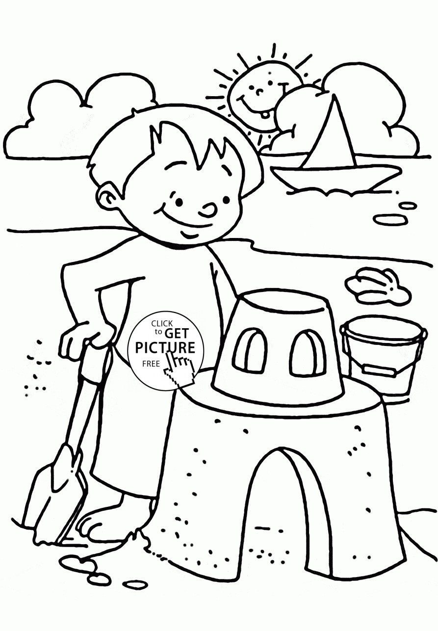 893x1286 Incredible Summer Beach Coloring Pages Pict Of Trends And Scene