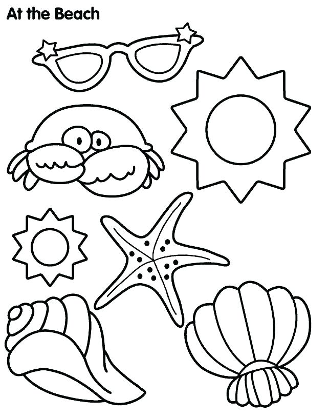 643x815 Printable Beach Coloring Page Printable Beach Scene Coloring Page
