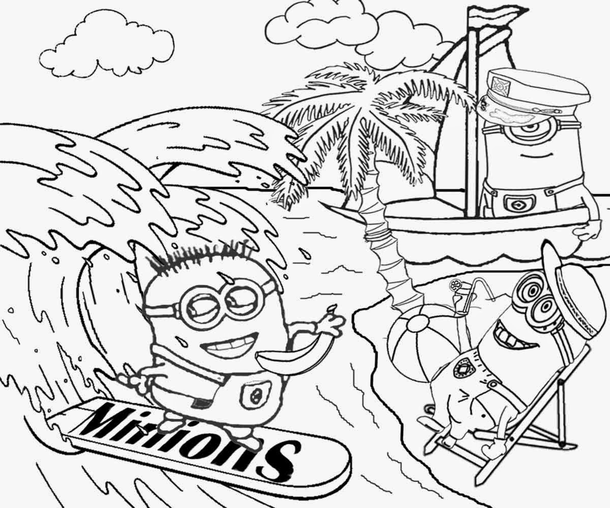 1200x1000 Summer Beach Scene Coloring Page Free Printable Pages Fine