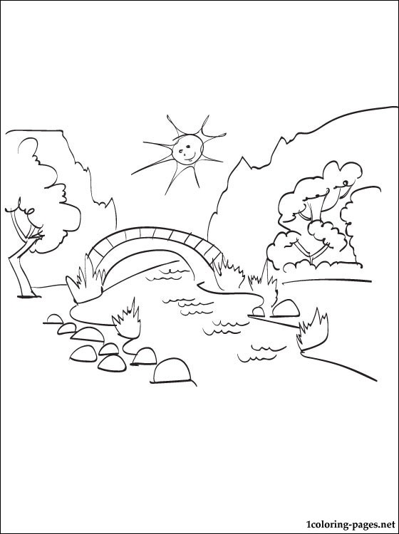 560x750 Summer Landscape Coloring Page Coloring Pages